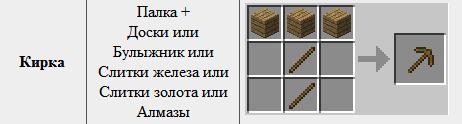 Как сделать minecraft кирку